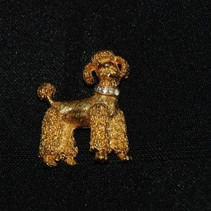 Nemo Signed Small Gold Tone Poodle Pin